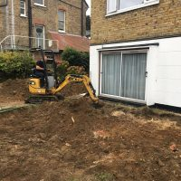 Levelling ground for a driveway in Chiswick02