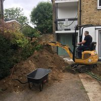 Levelling ground for a driveway in Chiswick03