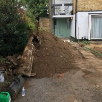 Levelling ground for a driveway in Chiswick06