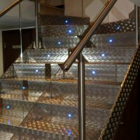 Steel Staircase with Aluminium Coating and Stainless Steel Railing02