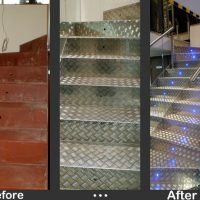 Steel Staircase with Aluminium Coating and Stainless Steel Railing03