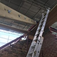 Building up roof structure for a tree storey building on Lewisham High Street02