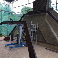 Building up roof structure for a tree storey building on Lewisham High Street04