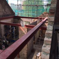 Building up roof structure for a tree storey building on Lewisham High Street11