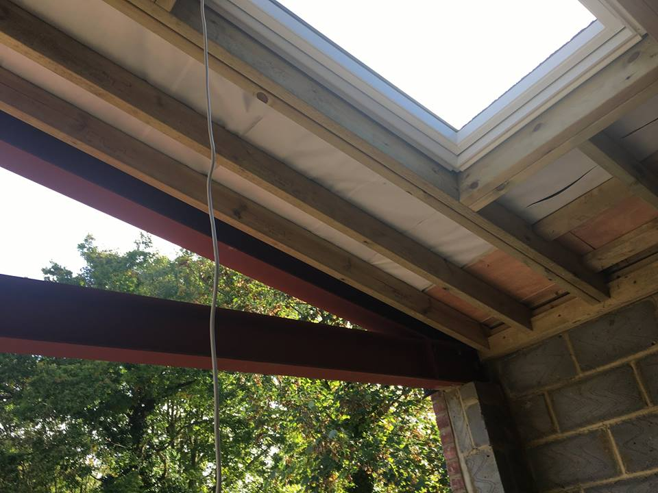 Extension Steel Support Roof Truss Also Ceiling Support