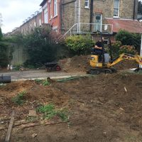 Levelling ground for a driveway in Chiswick01