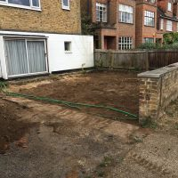Levelling ground for a driveway in Chiswick05