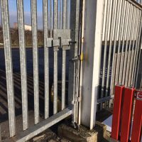 Oxford- BuildBase Completed some tlc on the gate and welded a jockey wheel to it for BuildBase in Oxford10