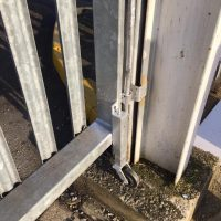 Oxford- BuildBase Completed some tlc on the gate and welded a jockey wheel to it for BuildBase in Oxford11