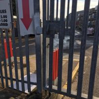 Oxford- BuildBase Completed some tlc on the gate and welded a jockey wheel to it for BuildBase in Oxford12