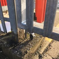 Oxford- BuildBase Completed some tlc on the gate and welded a jockey wheel to it for BuildBase in Oxford13